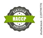 haccp certified stamp   quality ... | Shutterstock .eps vector #1159799770