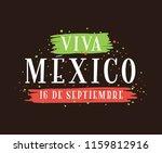 viva mexico. mexico... | Shutterstock .eps vector #1159812916