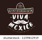 viva mexico. mexico... | Shutterstock .eps vector #1159812919