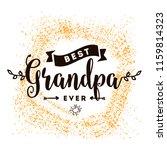 happy grandparents day.... | Shutterstock .eps vector #1159814323