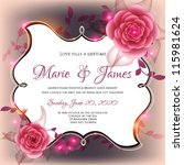wedding card or invitation with ... | Shutterstock .eps vector #115981624