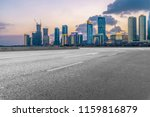 highway pavement and skyline of ... | Shutterstock . vector #1159816879
