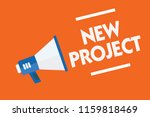 word writing text new project.... | Shutterstock . vector #1159818469