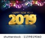 lights bokeh colorful... | Shutterstock .eps vector #1159819060