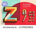 vector mosaic typeset. textured ... | Shutterstock .eps vector #1159820806