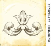 retro baroque decorations... | Shutterstock .eps vector #1159825273