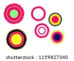 colorful round symbol design | Shutterstock .eps vector #1159827340