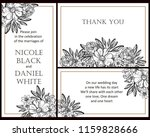 vintage delicate greeting... | Shutterstock .eps vector #1159828666