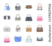 stylish purses flat icons  | Shutterstock .eps vector #1159829506