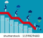 Business On Falling Down Chart...