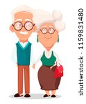 grandmother and grandfather... | Shutterstock .eps vector #1159831480
