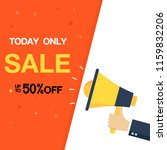 today only sale up to 50  off... | Shutterstock .eps vector #1159832206