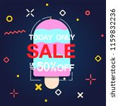 today only sale up to 50  off... | Shutterstock .eps vector #1159832236