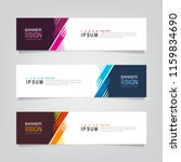 vector abstract web banner... | Shutterstock .eps vector #1159834690