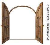 luxury classic doors. isolated... | Shutterstock . vector #115983910
