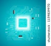 circuit board. electronic... | Shutterstock .eps vector #1159839970