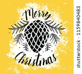 merry christmas. typography.... | Shutterstock .eps vector #1159840483