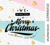 merry christmas. typography....   Shutterstock .eps vector #1159840510