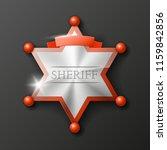 wild west sheriff metal gold... | Shutterstock .eps vector #1159842856