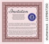 red vintage invitation. elegant ... | Shutterstock .eps vector #1159847350