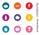 dill icons set. flat set of 9... | Shutterstock .eps vector #1159851703