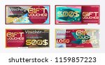 gift voucher gold template... | Shutterstock .eps vector #1159857223