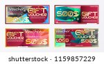 gift voucher gold template... | Shutterstock .eps vector #1159857229