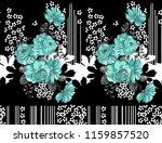 watercolor horizontal  flower... | Shutterstock . vector #1159857520