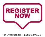 red vector banner register now | Shutterstock .eps vector #1159859173