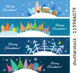 Cute Christmas Banners Set