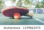 its a table tennis or pingpong...   Shutterstock . vector #1159862473