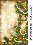 christmas golden banner  vector ... | Shutterstock .eps vector #115986274