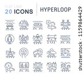 set of vector line icons of... | Shutterstock .eps vector #1159864429