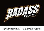 badass typo letter logo | Shutterstock .eps vector #1159867396