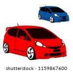 city car red blue car vector   Shutterstock .eps vector #1159867600
