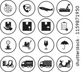 logistic vector icons set | Shutterstock .eps vector #1159871950