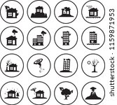 natural disaster vector icons... | Shutterstock .eps vector #1159871953
