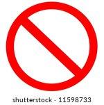 blank simple ban forbidden sign ... | Shutterstock . vector #11598733