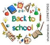 back to school. round... | Shutterstock .eps vector #1159873903