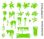 green slime effects different... | Shutterstock .eps vector #1159875613