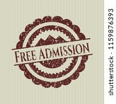 red free admission distressed... | Shutterstock .eps vector #1159876393