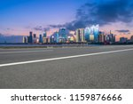 highway pavement and skyline of ... | Shutterstock . vector #1159876666