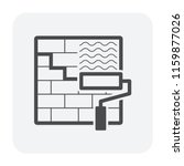 waterproof and water leak icon  ... | Shutterstock .eps vector #1159877026