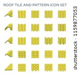 roof tile and pattern icon set. | Shutterstock .eps vector #1159877053