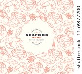 seafood shop label and frame... | Shutterstock .eps vector #1159877200