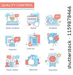 quality control concept icons ... | Shutterstock .eps vector #1159878466