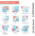 document flow concept icons ... | Shutterstock .eps vector #1159878469