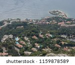 private villas on the french... | Shutterstock . vector #1159878589