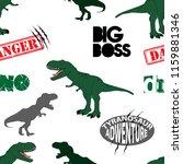 seamless  dino pattern  print... | Shutterstock .eps vector #1159881346