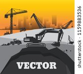 construction machinery and... | Shutterstock .eps vector #1159883536
